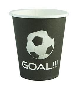 כוס נייר עבור שולחן יום הולדת כדורגל