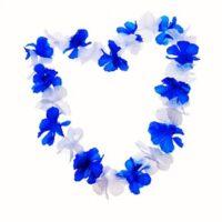 שרשרת הוואי כחול לבן