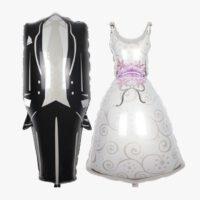 אביזרים לחתונה של בלונים חתן כלה