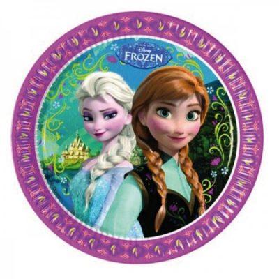 צלחות גדולות של יום הולדת אנה ואלזה