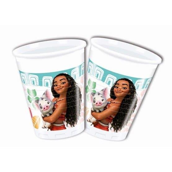 כוסות נייר יום הולדת מואנה