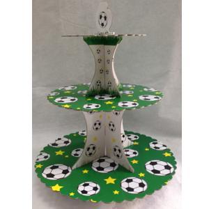 מעמד לקאפקייקס עבור שולחן יום הולדת כדורגל