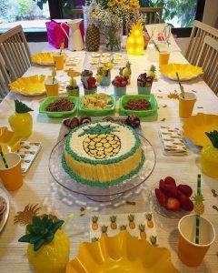 יום הולדת אננס- שולחן יום הולדת