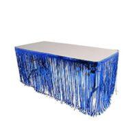 עיצוב שולחן כחול לבן