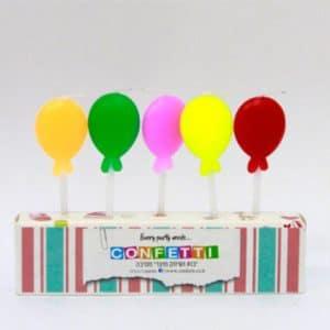 נרות להיום הולדת בלונים צבעוני