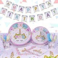 עיצוב שולחן יום הולדת חד קרן קסום