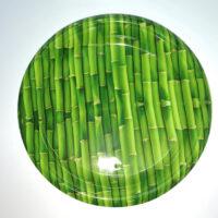 צלחת במבוק ירוקה