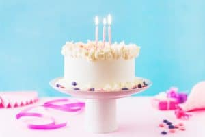 תמונה מתוך יום הולדת 3 עם מוצרים של מסיבלנד
