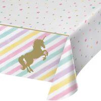 עיצוב שולחן יום הולדת חד קרן זהב