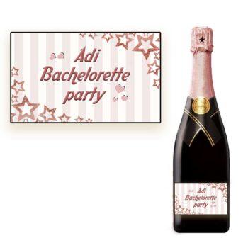 מדבקות לבקבוקי שמפניה למסיבת רווקות