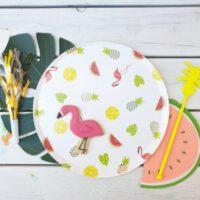 עיצוב שולחן למסיבת רווקות הוואי